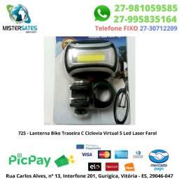 Lanterna Bike Traseira led Laser Farol
