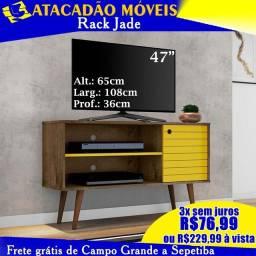 Rack Jade madeira com amarelo