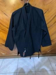 Kimono preto lavado apenas uma vez
