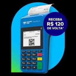 Maquineta de cartão point pro2 imprime mercado pago