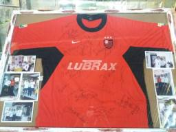 Camisa Flamengo autografada