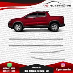 Aplique Pestana Lateral Cromado Para Fiat Toro 4 Portas - Yo Acessórios