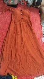 Vestido laranja escuro