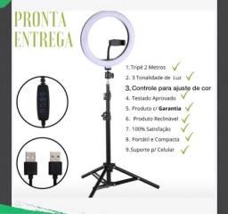 Kit Completo Ring Light Com Tripé  e suporte de celular PROMOÇÃO $100