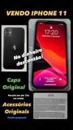 Vendo Celular I-PHONR 11 - 64G - Preto - 1 Mês de Uso!