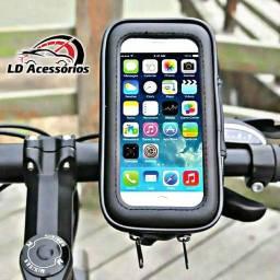 Suporte celular para bicicleta ou moto impermeável