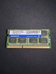 Título do anúncio: Memória Ram Adata 4gb Ddr3 1600mhz P/ Notebook