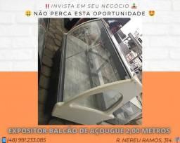 Expositor balcão de açougue 2,00 metros - Refrimate | Matheus