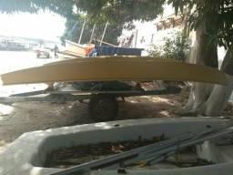 Barcos - casco de hobbie cat desmontado - 1988