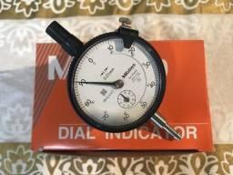 Relógio comparador capacidade 0-10mm resolução 0,01mm mitutoyo 2046s