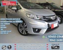 Prata Honda Fit 1.5 Exl 16v Flex 4p Automático 2015 R$ 40975 53096km - 2015