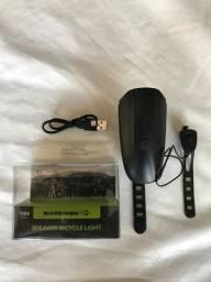 Farol Speaker Bicycle Light Buzina Lanterna - 7588