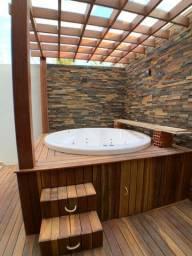 Casa 3 quartos, suíte, com área goumet e hidro no Residencial Canadá, 161 m²