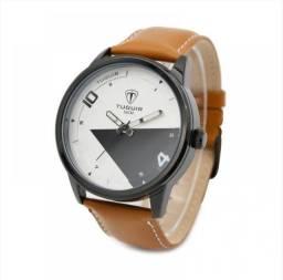 Relógio Masculino Tuguir Analógico - Marrom e Preto