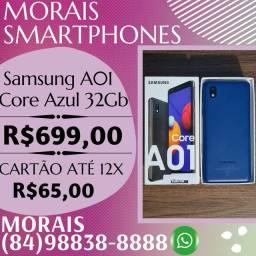 OFERTA - SAMSUNG A01 CORE 32GB (AZUL) - SEMI-NOVO COM NOTA FISCAL