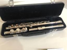 Flauta Transversal - Prateada - Eagle (com estojo de luxo) - usada pouquíssimas vezes