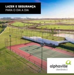 Lote a venda Alphaville Uberlândia 2 - 500 metros Aclive Leve