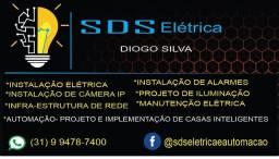 Serviço de elétrica, iluminação e alarmes