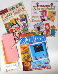 Vendo kit com 3 revistas de artesanato com a linda técnica de Quilling