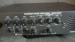 Amplificador mixer NCA 1000W com 250 watts RMS