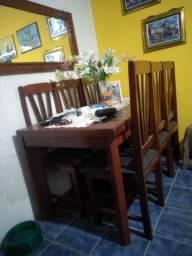 Mesa de sala 6 cadeiras