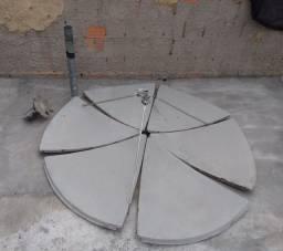 Antena chapa parabólica