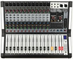 Mesa De Som Amw Ag12 Dsp 12 Canais Xlr Efx Mp3 Record Bluetooth