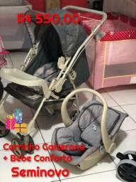 Carrinho + Bebe Conforto Galzerano