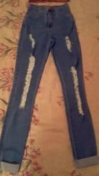 Calça Jeans e Blusinha Novas