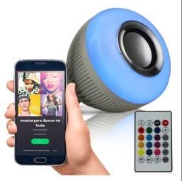Lâmpada Luz de Led Bluetooth Reprodução de Músicas
