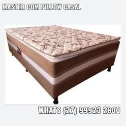 Saldão * Colchão Box Sued Acoplado com Pillow Casal R$569,00