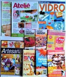 Vendo coleção de 10 revistas com diversas técnicas de artesanato