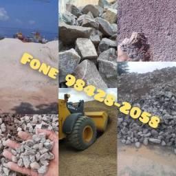 Pedra Brita Pedra Rachão areia Seixo