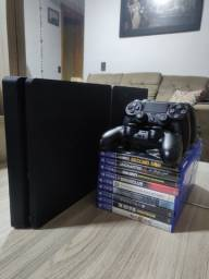 PS4 / Playstation 4 500 GB Semi-Novo - 2 Controles - 9 Jogos Físicos