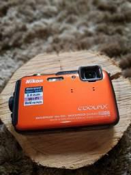 Câmera Dig. Nikon Coolpix Aw110 16.0mp Prova D'água+32gb SDU