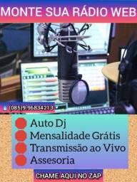 Montamos sua Radio Web, Sem Mensalidade , Saiba Como!