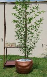 Vaso colméia vitrificado com bambu