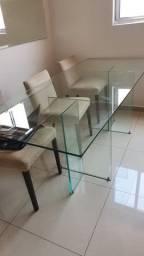 Mesa de vidro 2,10 x 90