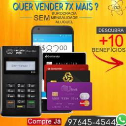 Maquina Leitor de Cartao Aceito Credito e Debito