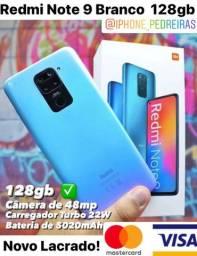 Redmi Note 9 128gb Branco Lacrado! Promoção!