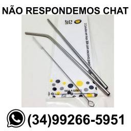 Kit 2 Canudos de Inox + Escova Limpeza * Entrega R$ 10 * Chame no Whats