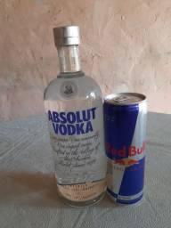 Vodka Absolut 1000 ml Original e Lacrada