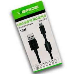 Cabo de dados USB Micro Usb V8 Filtro Duplo SJX-V8-0 1,5m