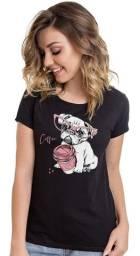 Kit 3 Camisetas 100% Algodão Lisas e Estampadas