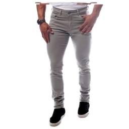 Calça regular textura - cinza chumbo - tamanho 38