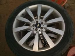 Roda 20 com furacão 5×100 pneus 245/45/20