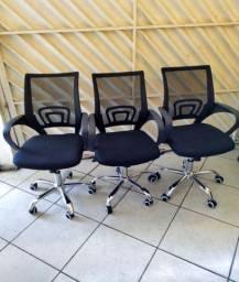 NOVA - Cadeira giratória com regulagem de altura (Valor unitário)