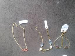 Vende se semi jóias folhadas a ouro