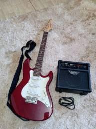 Guitarra nova com cx