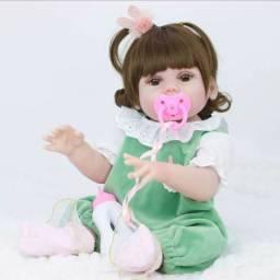 Boneca Reborn 100% Silicone original Faz Xixi